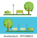 hello park. natural landscape... | Shutterstock .eps vector #497108821