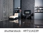 modern dark luxury black... | Shutterstock . vector #497114239