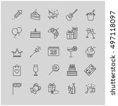 outline web icons set   party ... | Shutterstock .eps vector #497118097