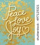 gold leaf boho chic style... | Shutterstock .eps vector #497125321