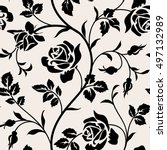 vintage wallpaper with blooming ... | Shutterstock .eps vector #497132989
