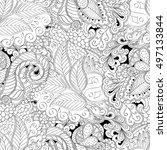 tracery seamless calming... | Shutterstock .eps vector #497133844