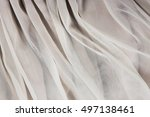 transparent chiffon tulle... | Shutterstock . vector #497138461