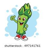 cartoon asparagus. vector... | Shutterstock .eps vector #497141761