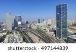 tel aviv skyline   aerial photo ... | Shutterstock . vector #497144839