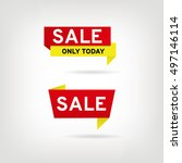 yellow red sticker sale | Shutterstock .eps vector #497146114
