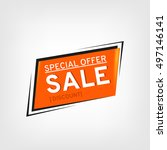 sale banner design. sale vector ... | Shutterstock .eps vector #497146141