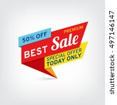 vector banner for best sale | Shutterstock .eps vector #497146147