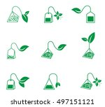 icon set of tea bags isolated... | Shutterstock .eps vector #497151121