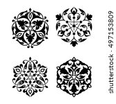 set of arabic oriental ornament ... | Shutterstock .eps vector #497153809