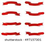 set of arrow stickers. vector... | Shutterstock .eps vector #497157301
