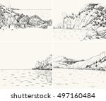 Vector Summer Seascape Sketch....