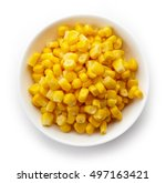 Bowl Of Sweet Corn Isolated On...