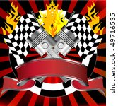 racing emblem in red with... | Shutterstock .eps vector #49716535