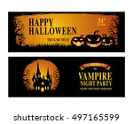 halloween. trick or treat.... | Shutterstock .eps vector #497165599
