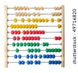 Colorful Child Abacus Isolated...
