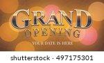 grand opening vector banner ... | Shutterstock .eps vector #497175301