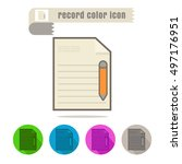 icon record color on white... | Shutterstock .eps vector #497176951