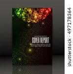 template design for cover.... | Shutterstock .eps vector #497178364