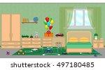 interior of a children's... | Shutterstock .eps vector #497180485