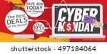 8000x3200 pixel cyber monday...   Shutterstock .eps vector #497184064