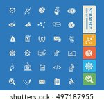strategy and business icon set.... | Shutterstock .eps vector #497187955