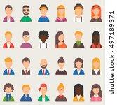 set of vector avatars  people | Shutterstock .eps vector #497189371