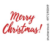 merry christmas vector... | Shutterstock .eps vector #497190049