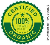certified organic badge | Shutterstock .eps vector #497190871