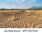 global warming  drought in the...   Shutterstock . vector #497192764