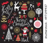 christmas icons  signs  symbols.... | Shutterstock .eps vector #497199937