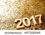 new year decoration closeup on... | Shutterstock . vector #497200969
