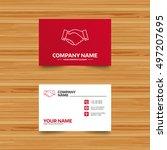 business card template.... | Shutterstock .eps vector #497207695
