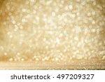gold festive christmas...   Shutterstock . vector #497209327