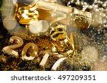 new years eve celebration... | Shutterstock . vector #497209351