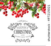 merry christmas and happy new... | Shutterstock .eps vector #497215021