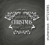 i wish you a merry christmas... | Shutterstock .eps vector #497215081