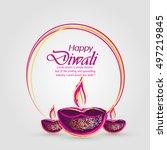 the diwali   Shutterstock .eps vector #497219845