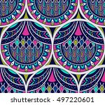 vector seamless pattern with... | Shutterstock .eps vector #497220601