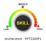 skill button position. concept... | Shutterstock . vector #497226091
