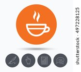 tea cup icon. hot coffee drink... | Shutterstock .eps vector #497228125