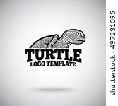 vector turtle logo template for ... | Shutterstock .eps vector #497231095