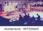 vintage tone blur image of... | Shutterstock . vector #497234665