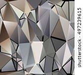 randomly scattered triangles of ...   Shutterstock .eps vector #497239615