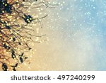 abstract christmas lights on... | Shutterstock . vector #497240299