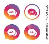 speech bubble sale sign icon.... | Shutterstock .eps vector #497251627