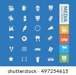 media icon set vector | Shutterstock .eps vector #497254615