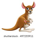 Cute Cartoon Mother And Baby...