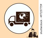 delivery sign icon  vector... | Shutterstock .eps vector #497257759