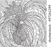 cock in zentangle style....   Shutterstock .eps vector #497261299